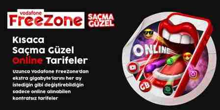 Saçma Güzel tarifesi nedir? Vodafone Freezone en uygun paketleri
