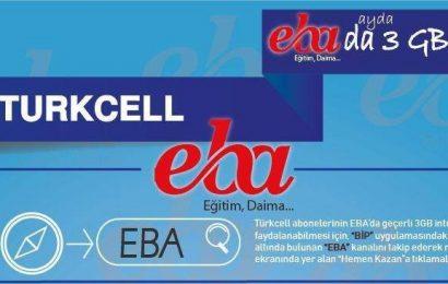 Turkcell EBA Hediye İnternet Nasıl Alınır?