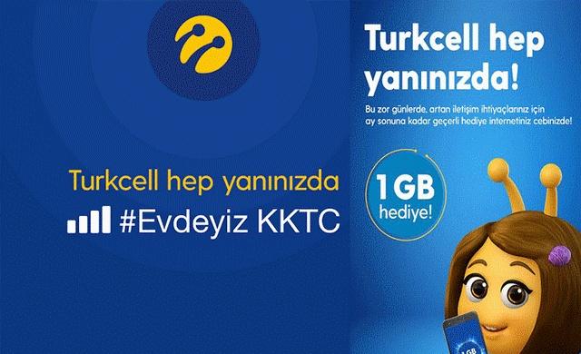 Kuzey Kıbrıs Turkcell İle 1 GB Bedava İnternet