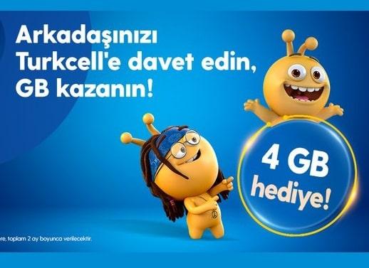 Turkcell Davet Et 4 GB Kazan